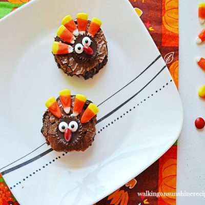 Easy Thanksgiving Turkey Brownies