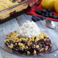 Blueberry Lemon Dump Cake