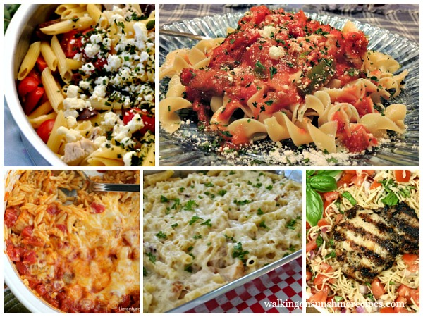 Chicken and Pasta Recipes | Weekly Menu Plan Featured Photo | Walking on Sunshine Recipes