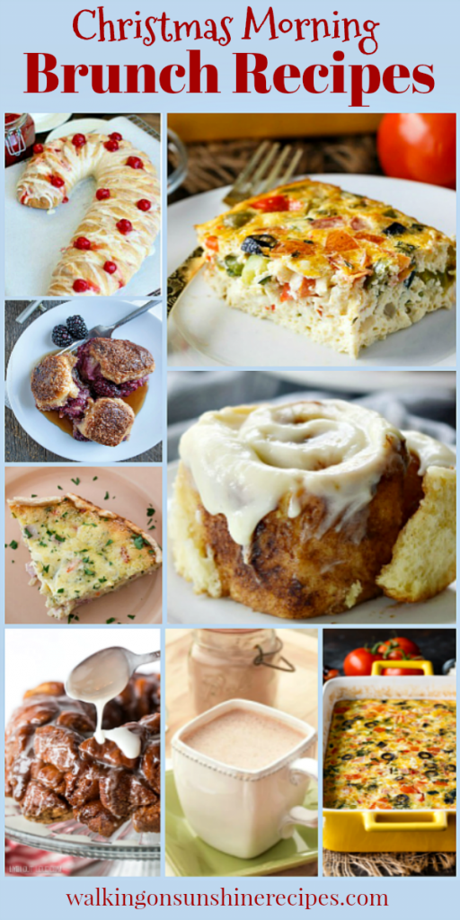 Christmas Morning Brunch Recipes featured on Walking on Sunshine Recipes