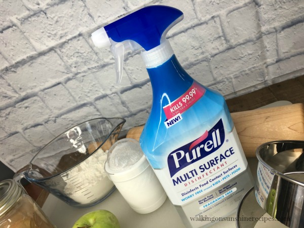 No need to worry using Purell Multi Surface Disinfectant around food from Walking on Sunshine Recipes.