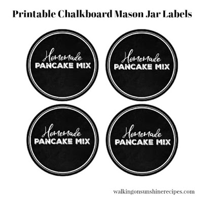 Homemade Pancake Mix Labels