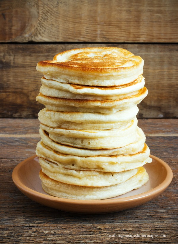 Homemade Bulk Pancakes from Walking on Sunshine Recipes