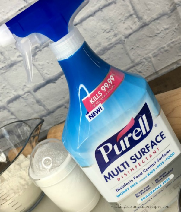 How to keep the kitchen clean with Purell Multi Surface Disinfectant from Walking on Sunshine Recipes
