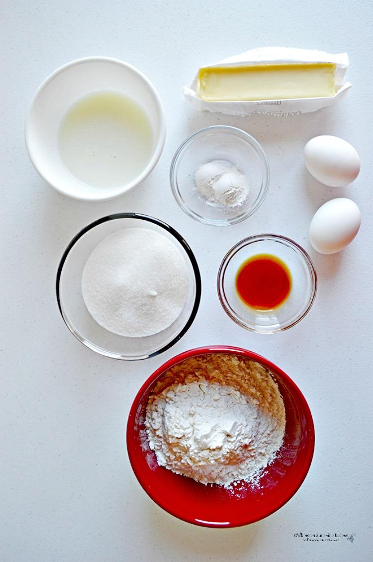 Ingredients for Reindeer Cupcakes