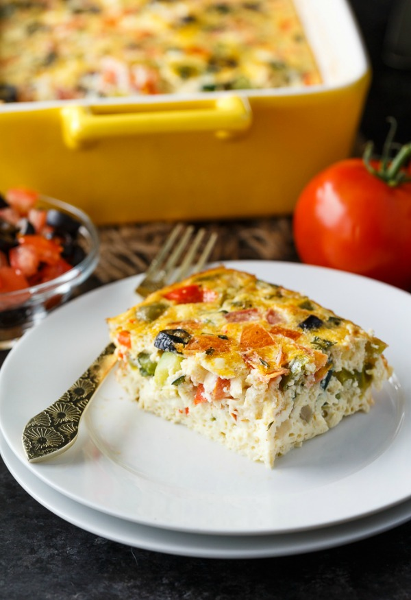 Mediterranean Brunch Bake from Simply Stacie