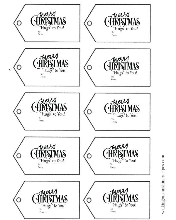 Holidays: FREE Printable Christmas Gift Tags| Walking On ...