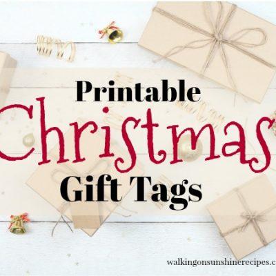 Holidays:  FREE Printable Christmas Gift Tags