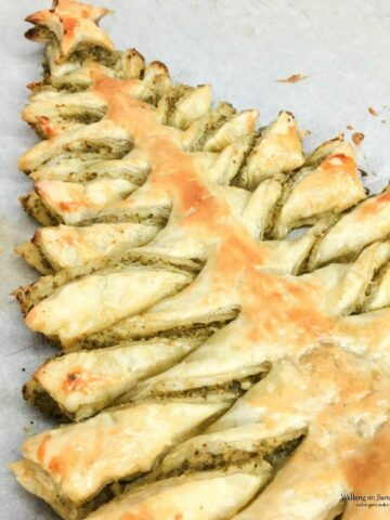 Puff Pastry Christmas Tree with Basil Pesto Appetizer from WOS