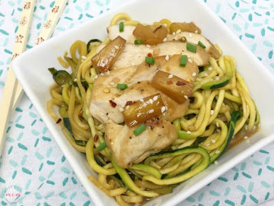 Quick Teriyaki Chicken with Zoodles from Must Have Mom