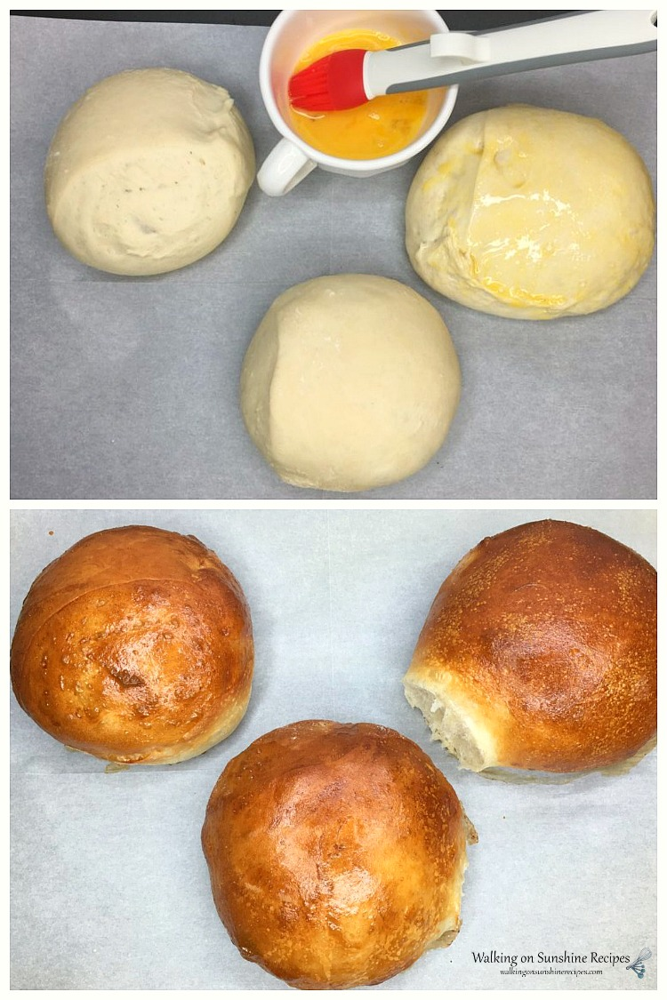 Bread Bowls for Soup or Dip before and after baking from WOS
