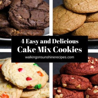 How to Make 4 Different Cookie Recipes with Boxed Cake Mix