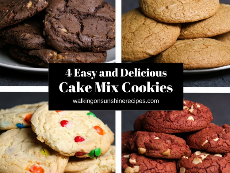 4 Cake Mix Cookies Recipe