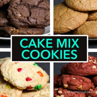4 Different Cookie Recipes with Boxed Cake Mix
