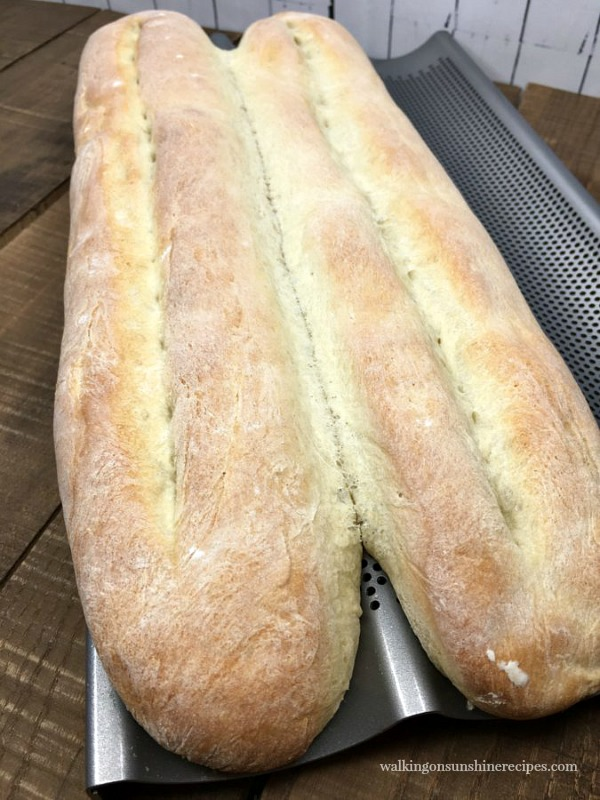French Baguette Homemade Bread Recipe | Walking on Sunshine