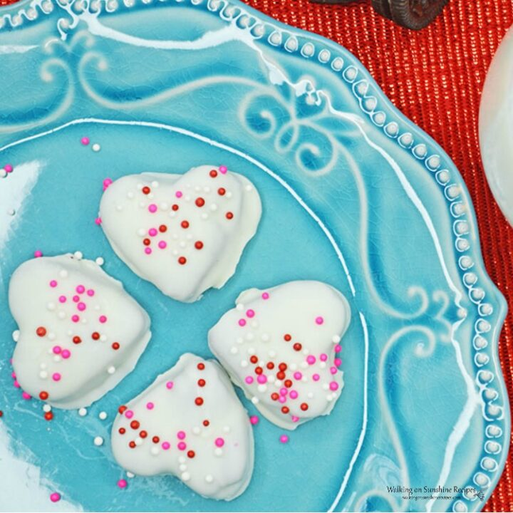 Heart Shaped White Chocolate Oreo Truffles