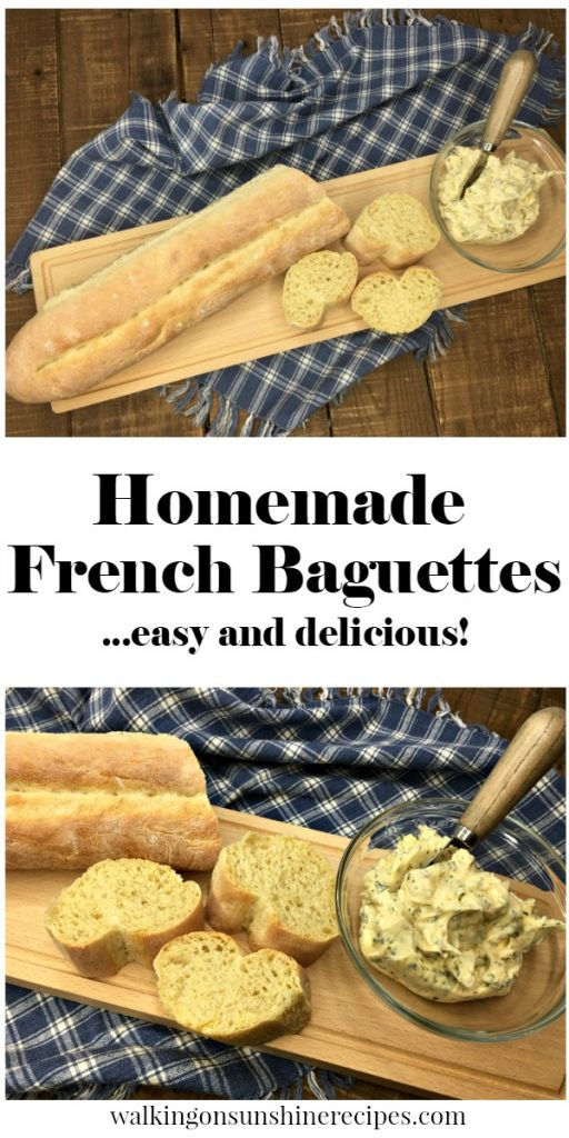 How to Make EASY Homemade French Baguette Recipe from Walking on Sunshine Recipes.