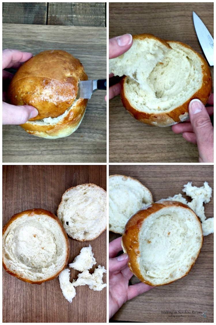 How to Scoop out Bread for Bowls