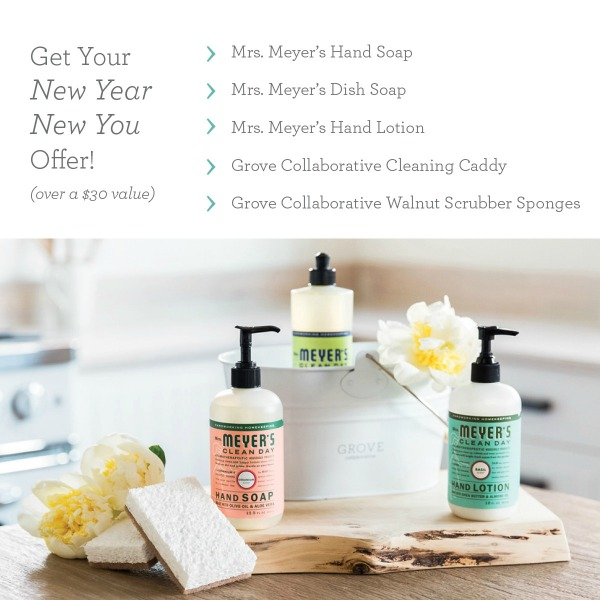 Mrs. Meyers January Offers featured on Walking on Sunshine Recipes