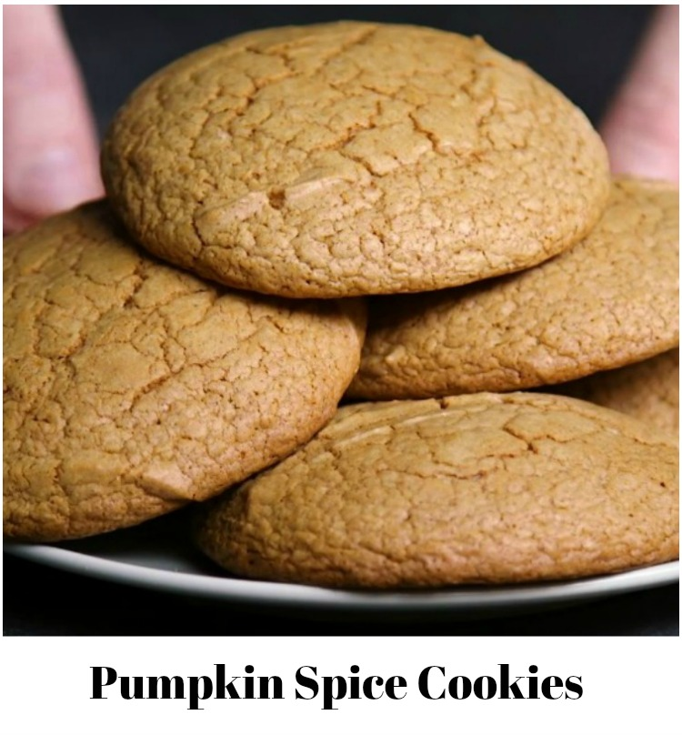 Pumpkin Spice Cookies from a cake mix