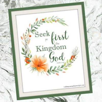 Inspiration:  Seek Ye First the Kingdom of God Matthew 6:33