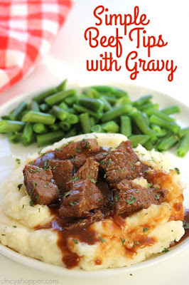 Simple Beef Tips with Gravy from Cincy Shopper