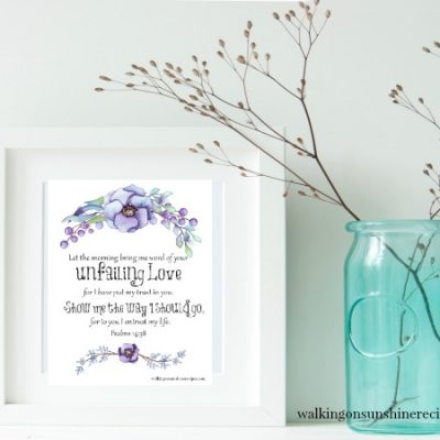 Inspiration:  Unfailing Love Printable Psalms 14:38
