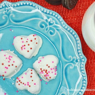Heart Shaped Oreo Truffles perfect for Valentine's Day