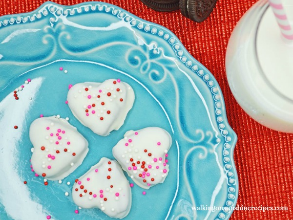 Heart Shaped Oreo Truffles perfect for Valentine's Day from Walking on Sunshine Recipes