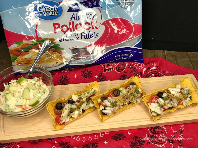 Alaskan Pollock Kid Friendly Fish Tacos on bread board