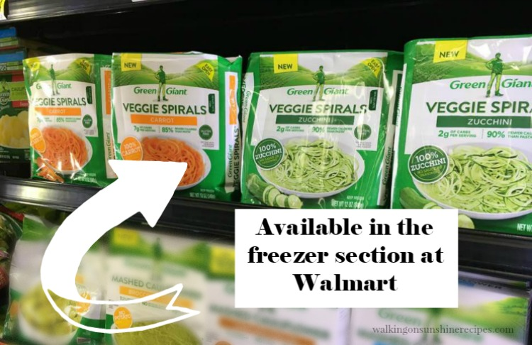 Zucchini and Carrot Veggie Spirals available at Walmart