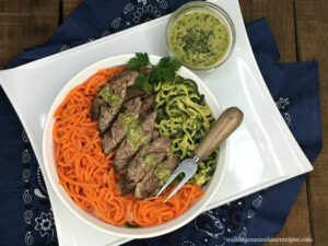 Recipe:  Grilled Steak with Veggie Spirals