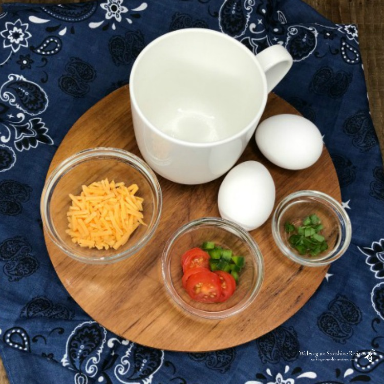 eggs, cheese, tomatoes, chives