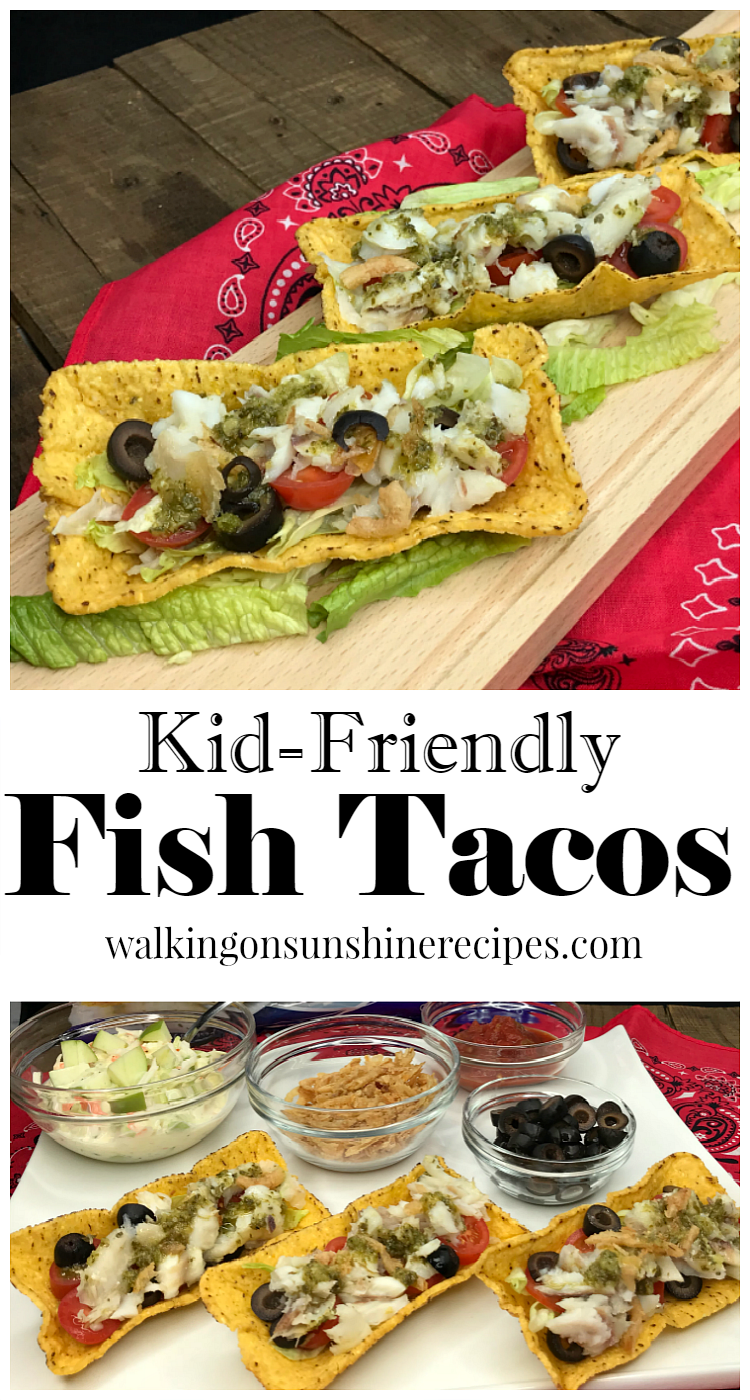 Kid-Friendly Fish Tacos even the pickiest of kids will eat from Walking on Sunshine Recipes