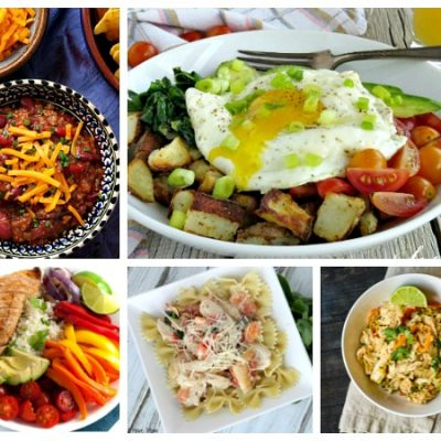 Weekly Meal Plan:  One Bowl Recipes for Dinner