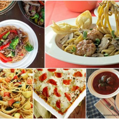 Weekly Meal Plan:  Spaghetti Recipes for Dinner this Week