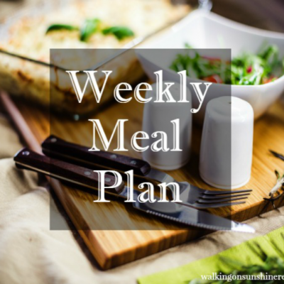 Weekly Meal Plan: 20 Minute Weeknight Meals