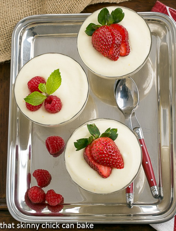 White Chocolate Mousse with Frangelico from That Skinny Chick Can Bake