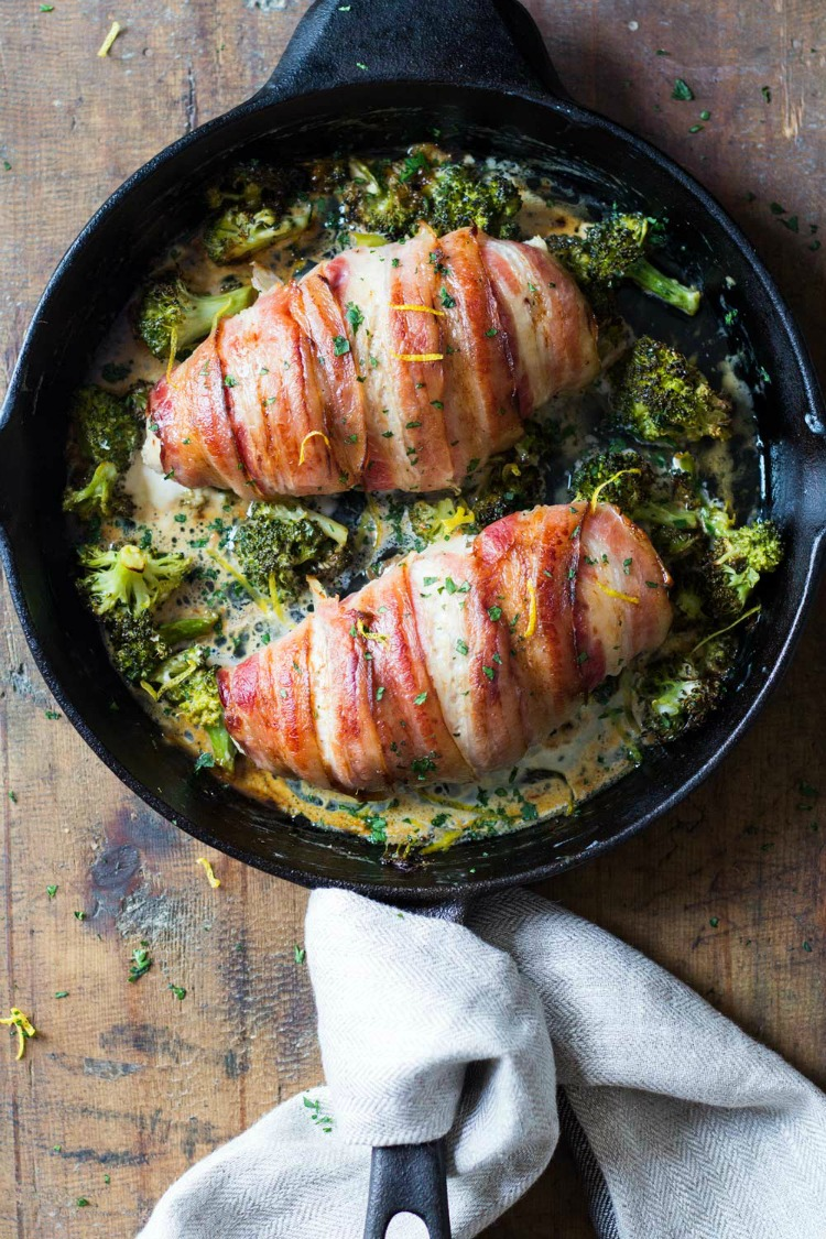 Bacon Wrapped Chicken Breast from Green Healthy Cooking