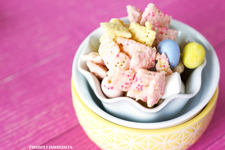 Bunny Tail Easter Muddy Buddies from Embellishmints