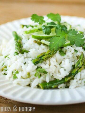 Cilantro Lime Asparagus and Rice from Dizzy Busy and Hungry