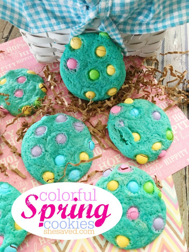 Colorful Spring Cookies from She Saved