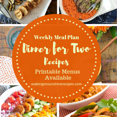 Weekly Meal Plan: Dinner for Two