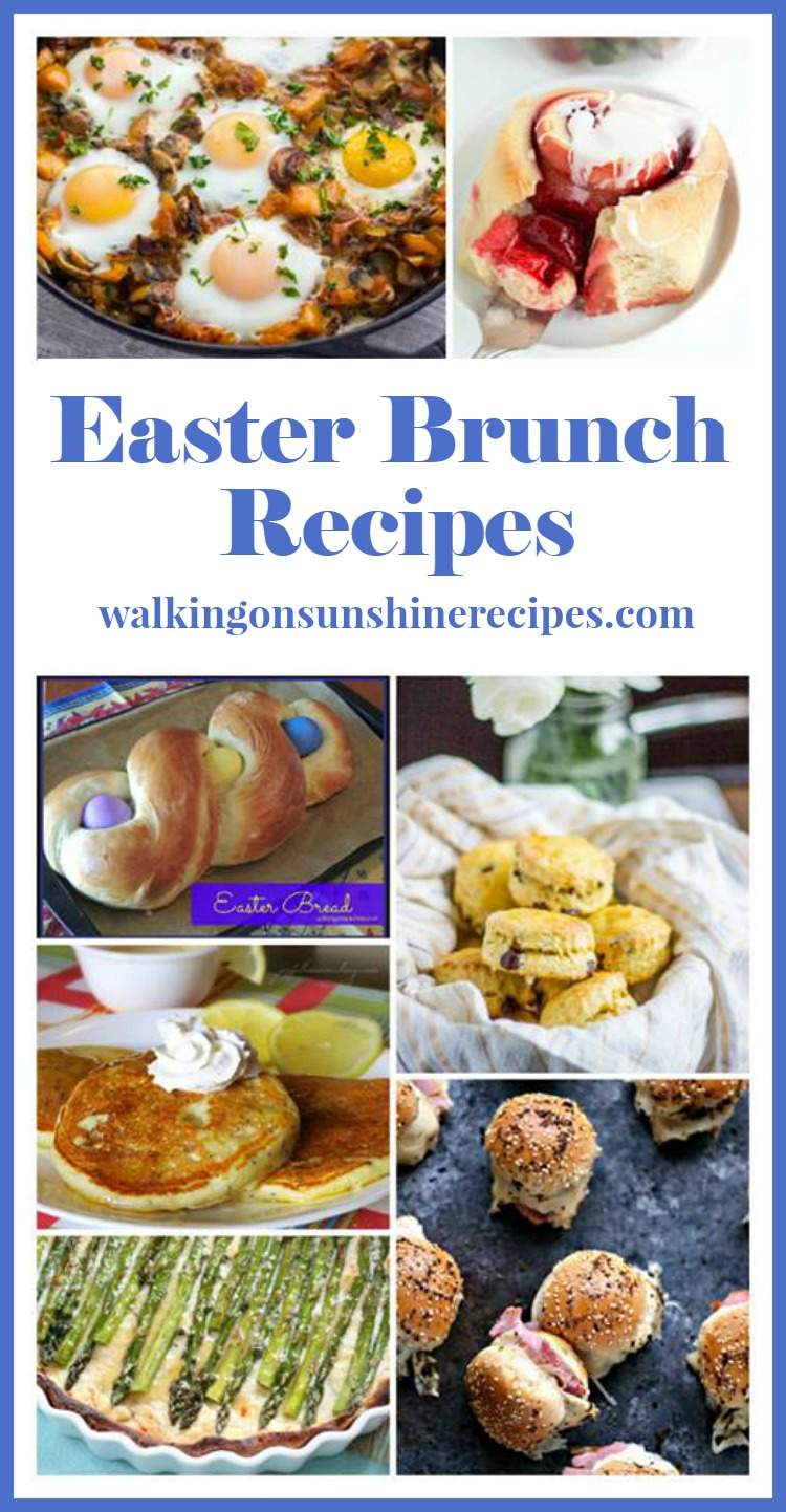 Easter Brunch Recipes featured from our Delicious Dishes Recipe Party on Walking on Sunshine Recipes