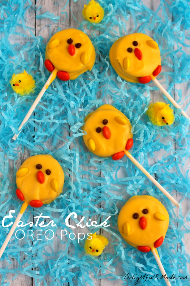 Easter Chick Oreo Pops from Delightul E Made