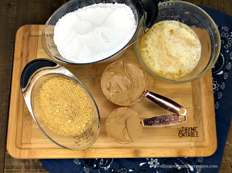 Ingredients for the Peanut Butter Layer for Chocolate Peanut Butter Eggs from Walking on Sunshine Recipes