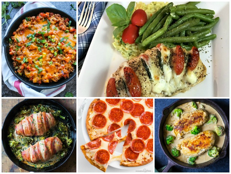 Keto Friendly Dinner Recipes FEATURED photo from Walking on Sunshine Recipes
