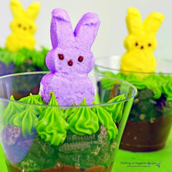 Marshmallow Bunny Peeps Pudding Cups