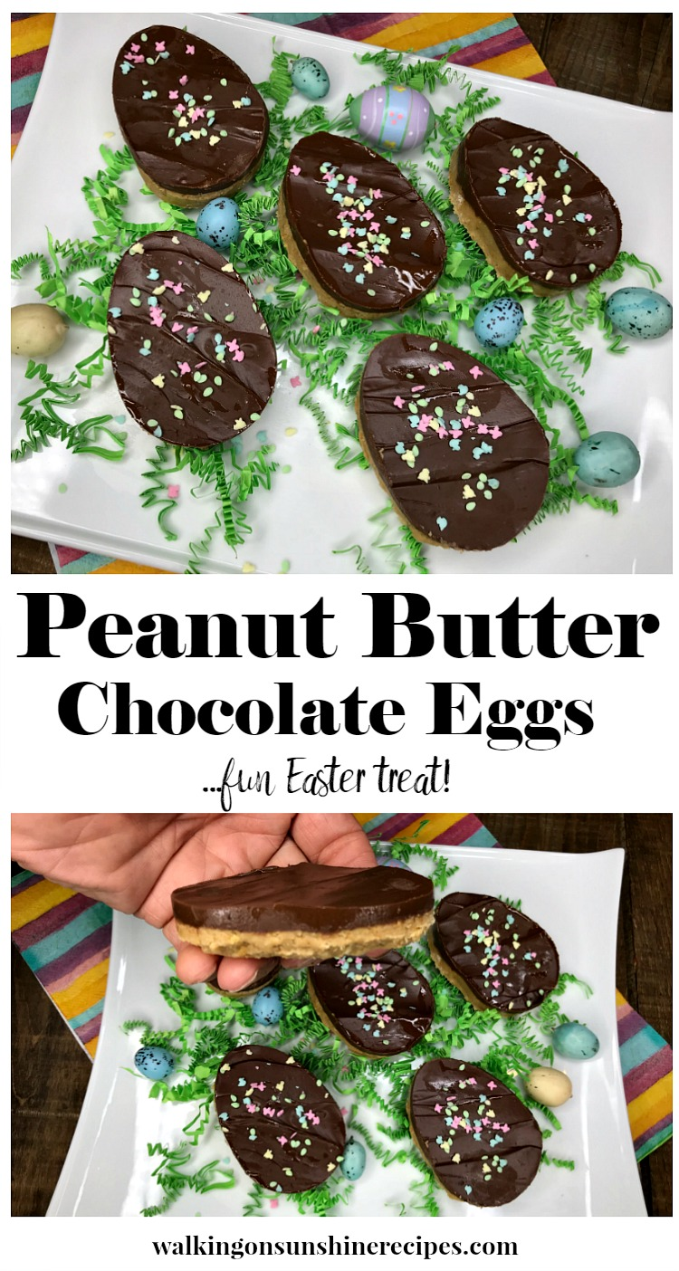 Peanut Butter Chocolate Eggs from Walking on Sunshine Recipes