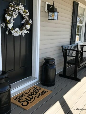 Spring Cleaning Front Porch 1